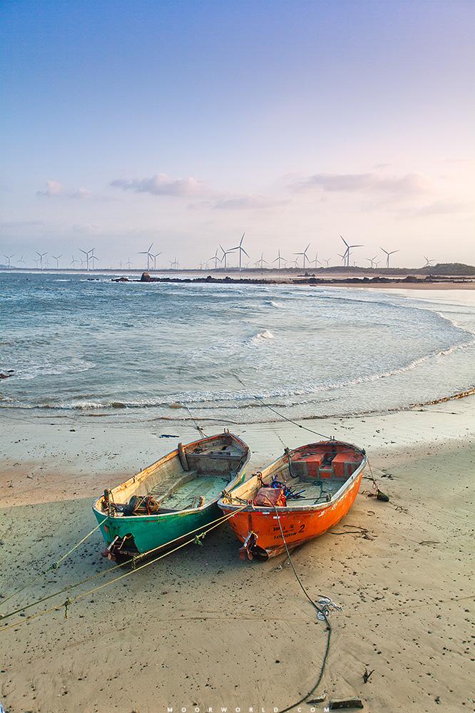 风车与海岸